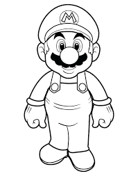Free Mario Coloring Pages Super Mario Brothers Free Colouring Pages