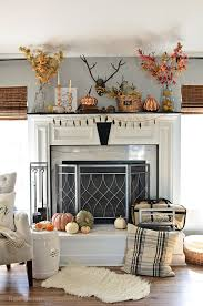 fall mantel with touches of copper and rosegold at tidymom net