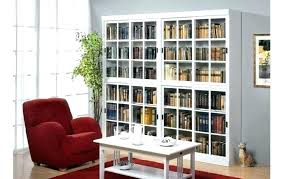 bookcases with sliding glass doors socielle co for red bookcase ideas 16