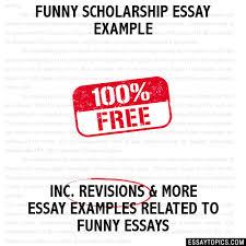 scholarship essay example funny scholarship essay example