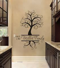 apply the removable family tree wall decals first and then the name you won t be able to take your eyes off of this vinyl wall decal
