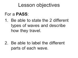 title physics assignment waves p ppt video online  2 lesson objectives