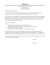 Best Data Entry Cover Letter Examples Livecareer