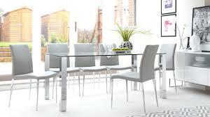 rectangular clear glass dining table chrome legs uk 8 seat dining table safety glass dining table