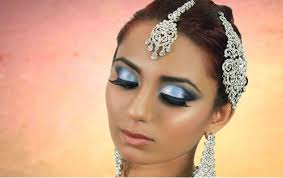 blue smokey eye makeup indian stani arabic asian bridal makeup tutorial