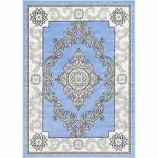 well woven traditional medallion french aubusson area rug blue