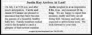 Birth Announcement In Newspaper 11 Best Images Of Newspaper Baby Announcements Newspaper Birth