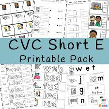 Reading cvc words is one of the first activities that educators offer children when teaching them how to sound out english words. Cvc Short E Words Worksheets Fun With Mama