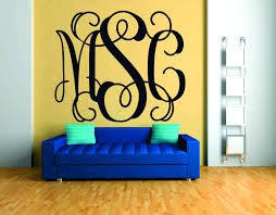 initial monogram wall pics of wall decal monogram