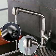 2019 Homedec Modern Brushed Nickel Finish Pull Out Kitchen Sink