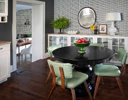 round table buffet hours with transitional dining room green chair