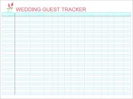 Free 16 Wedding Guest List Templates In Pdf Word Excel