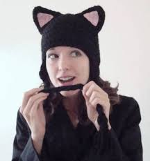 Cat Hat Crochet Pattern Adorable Black Kitty Cat Hat Now With A VERY Rough Basic Pattern Included