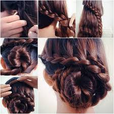 Hairstyle Waterfall how to diy waterfall braided bun hairstyle braided bun 5424 by stevesalt.us