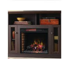 convertible tv stand electric fireplace in espresso