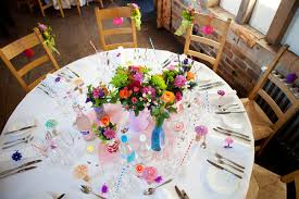 Decorating Jam Jars For Wedding An Eclectic Colourful DIY Wedding Amy Andy Rock N Roll Bride 29