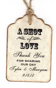 thank you tags for wedding favors 50 personalized shot of love wedding favor tags place cards