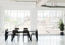minimal office. Wednesday Office Interior Minimal Meeting Room White Resin Floor Black Table Chairs S