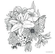 Flowering Coloring Pages Freericardopalmeraorg