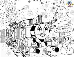 5 free holiday colouring sheets quit difficult suitable for older kids to color in, frosty christmas pictures winter animal coloring pages for children thomas and friends percy the train engine in a santa hat costume. Christmas Colouring Pages To Print For Free Http Www Kidscp Com Christmas Colouring P Train Coloring Pages Christmas Coloring Pages Birthday Coloring Pages
