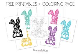 The easter bunny coloring pages printable show the easter bunny in a number of different avatars. Typographic Easter Bunny Free Printables Coloring Page Dawn Nicole