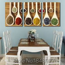 3 Piece Modern Nordic Wall Art Decoration Spoon Spices Poster Print Canvas  Paintings For Restaurant Or Living Room Wall Art -in Painting & Calligraphy  from ...