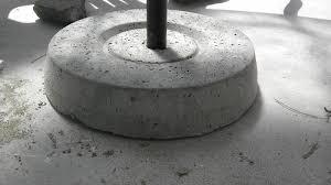 Build A Concrete Patio Concrete Patio Umbrella Stand