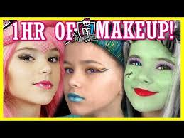 1 hour of monster high doll makeup tutorials costume or cosplay kittiesmama