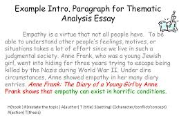 thesis statement as you already know a thesis statement clearly  paragraph for thematic analysis essay empathy is a virtue that not all people