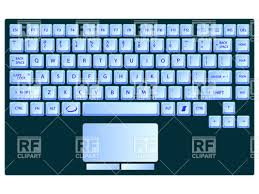 laptop clipart. laptop blue keyboard vector clipart clipart