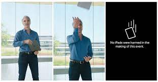 ฮา] Apple ย้ำไม่มี iPad ที่ได้รับอันตรายใดๆ จากฉากโยน iPad  ขึ้นฟ้าของผู้บริหารในงาน WWDC