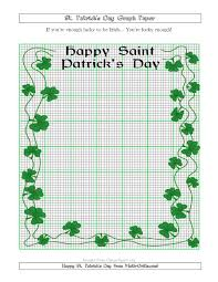 St Patricks Day Graph Paper 10 Lines Per Inch With A Fancy Border