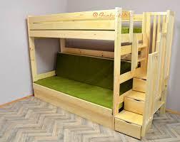 Letto a castello in legno massello inez con materassi e cassetto 16
