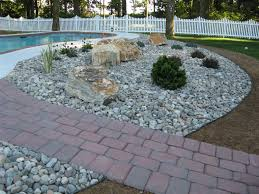 gravel landscaping cost rock mulch home depot stone ideas for front