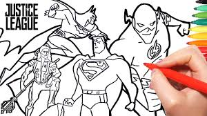 Justice League Coloring Pages How To Draw Superman Batman Flash