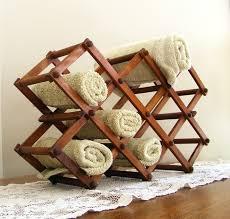 spa towel storage. Vintage Accordion Wine Rack Or Spa Towel Stand By Gazaboo Storage O