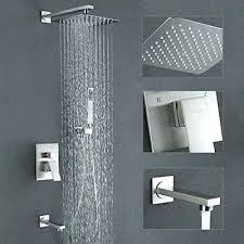 rainhead shower system shower system with tub spout and rain head faucet set brushed nickel callas