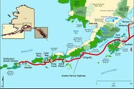 Marine Highway Kodiak Aleutians Map