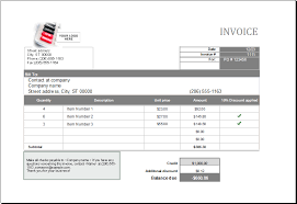 Editable Printable Ms Excel Format Sales Invoices Excel