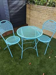 john lewis metal blue green bistro set