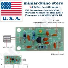 mini wireless microphone ham wireless radio transmitter module 3 5v mini wireless microphone ham wireless radio transmitter module 3 5v 91 103mhz