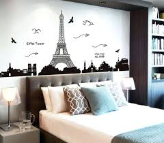paris inspired bedroom wall decor stickers target tower lamp mainstays kids in bag bedding set paris inspired