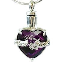 infinity keepsakes cremation urn necklace for ashes always in my heart end bereavement jewelry with fill kit and velvet bag