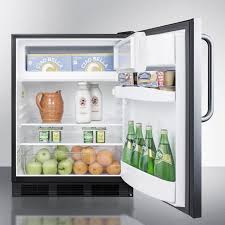AccuCold CT66BSSTB 5.1 cu. ft. Compact Refrigerator with Adjustable ...