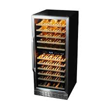 Integrated Wine Cabinet Newair Premier Gold Series 116 Bottle Dual Zone Built In Wine