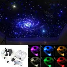 Led Star Ceiling Lights Us 54 34 31 Off Led Fiber Optic Star Ceiling Lights Kit 180 Strands 2m Optical Fiber And 10w Rgbw Twinkle Light Engine With 28key Rf Remote In Optic