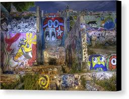graffiti canvas print featuring the painting castle hill by andrew nourse on castle hill wall art with castle hill canvas print canvas art by andrew nourse