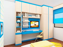 bedroom design for kids. Colorful Kids Bedroom Design With Desk For R