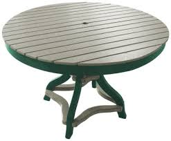 48 inch round table weather green