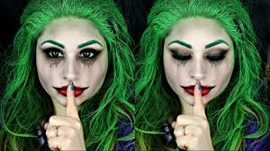 squad female joker makeup tutorial beautybyjosiek